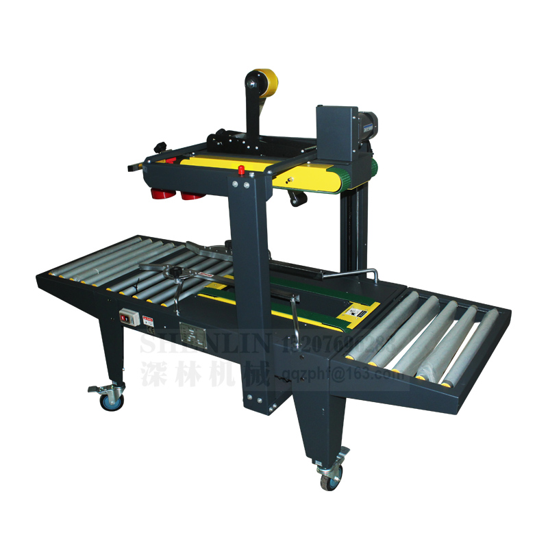 Carton Taping Sealer Top&Bottom One Stop Sealing Machine Side Driver,box/case Tape Package Packing Equipment,semi-automatic Tool