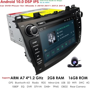 Image 3 - 8 inch Android 10.0 Double din Car DVD Player GPS Navigation stereo Radio Can bus for Mazda 3 2010 2011 2012 2013 Remote control