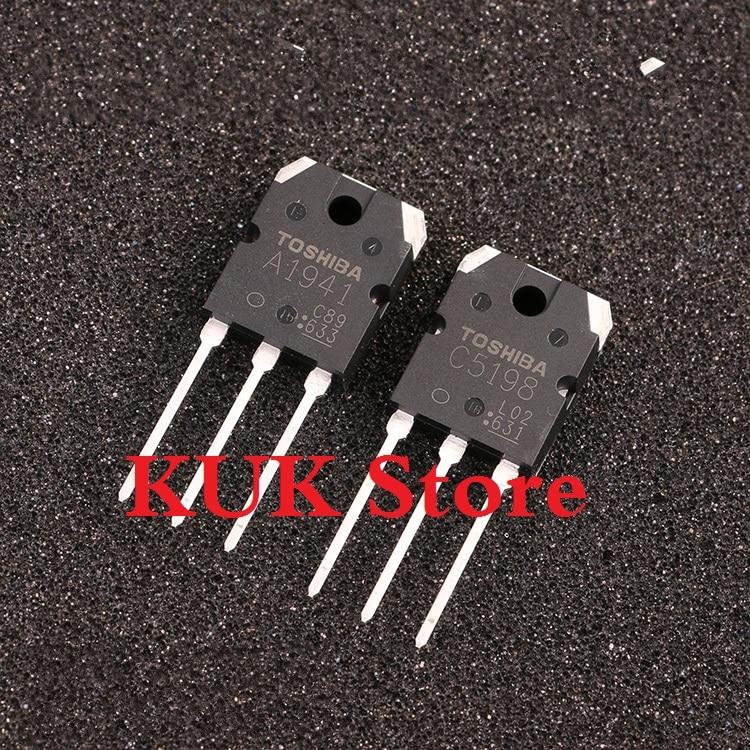 Real Original 100% NEW A1941 C5198 2SA1941 2SC5198 TO-3P 10Pair = A1941 10PCS + C5198 10PCS