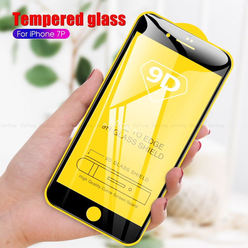 9D Protective Glass For iPhone 6 6S 7 8 Plus Glass Screen Protector For iPhoneX XR XS MAX 7 6 Full Coverage Black Tempered Glass(China)