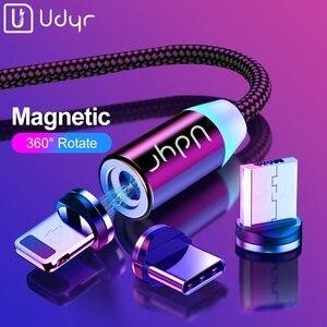 Image 1 - Udyr Cable Micro USB magnético para móvil, Cable Micro USB tipo C de carga rápida para iPhone, Samsung y Android