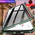 Funda magnética de cristal 360 para iphone 11 funda 360 magnética Anti espía iphone 6 7 8 7 plus 8p 10 XS XR XSX 11 PROMAX funda protectora