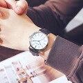Экспорт Лидер продаж скандинавские минималистичные модные часы с большим циферблатом мужские женские часы с кожаным ремешком для студенто...