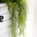 Agulha de pinho escritório decoração da casa do casamento hotel folhas artificial planta jardim parede pendurado festa falso videira simulação diy loja