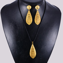 WANDO 24 K Gold Colorn ecklace Earrings(China)