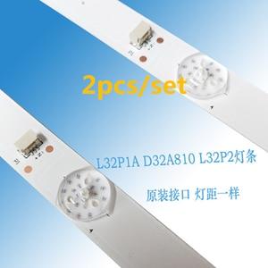 Image 2 - 4 pcs/Lot 100% new 32inch LCD TV backlight strip for TCL L32P1A L32F3301B 32D2900 32HR330M06A8V1 4C LB3206 6leds each lamp 6v