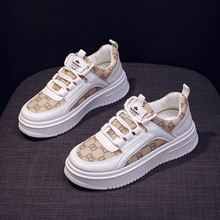 2021 vulcanisé Chaussures Femme Sneakers Mode Respirant Maille Blanc Baskets Femmes Plate-Forme Décontracté Dames Chaussures Chaussure Femme
