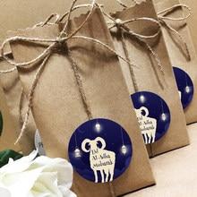 Etiquetas adhesivas de Eid Al Adha para fiestas, decoraciones de Eid, Feliz Eid, al-adha, embalaje, sello de regalo, suministros fiesta, pegatinas, 24/48 Uds.