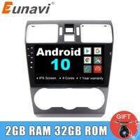 Eunavi 9'' 2 Din Android 10 Car PC Radio Stereo Multimedia Player for Subaru Forester XV WRX 2013 2018 GPS Navigation IPS auto