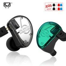 Kz as06 fone de ouvido 3ba, fone de ouvido armadura equilibrada, hi fi para corrida e esportes zs5 v80 k6