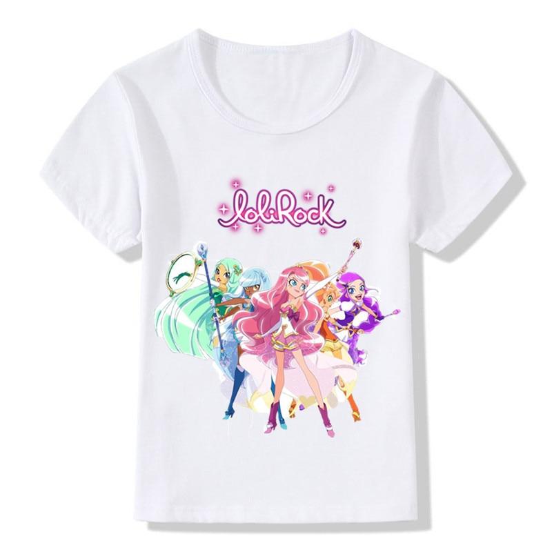Children LoliRock Magical Girl Funny T-shirt Boys Girls Anime Great Tops T shirt Kids Clothes 15