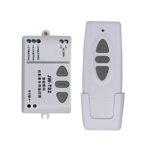 JW T02 AC 220V Motor Wireless Remote Control Switch UP Down Stop Tubular Motor Controller Motor Forward Reverse TX RX Latched