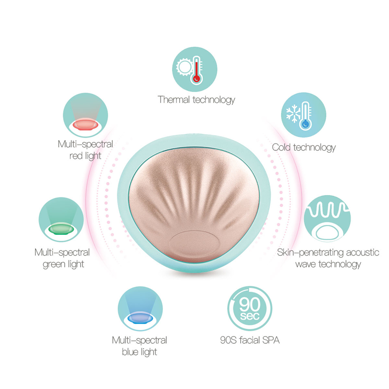 Just 90 Seconds Magic LED Face Smart Mask Treatment Beauty Device Anti Wrinkle Facial Lifting Cleaning Massage Skin Rejuvenation