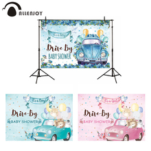 Allenjoy It is a Boy Girl Photo Backdrop Baby Shower Car Drive Party Birthday Newborn Child Photography Background Photocall