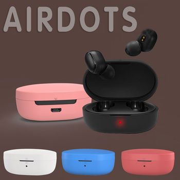 Bluetooth Headphones Case for Xiaomi MI Redmi AirDots Headphones Cover TWS Bluetooth Earphone Wireless Headset Shell image