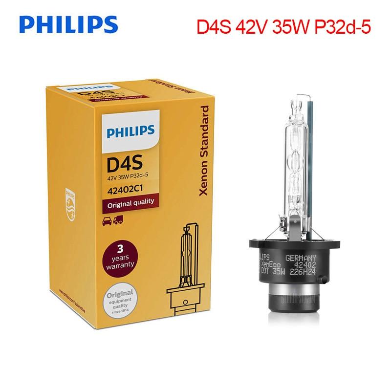 Authentic Philips D4S Original HID Xenon White Super Bright Upgrade Light Bulb