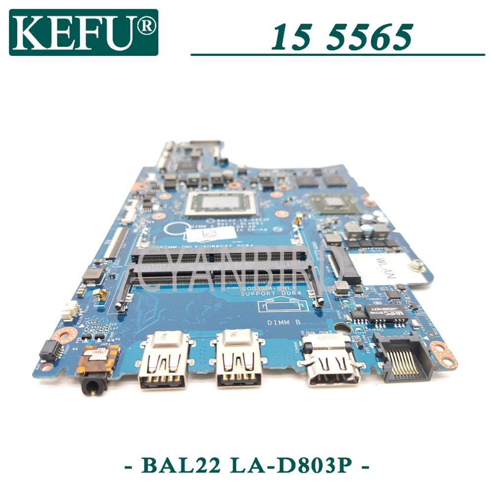 KEFU LA-D803P original mainboard for Dell Inspiron 5565 with A10-9600P R7-M445 4GB Laptop motherboard 3