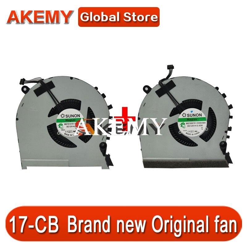 New Original CPU And GPU Cooling Fan For HP OMEN 17-CB TPN-C144 MG75091V1-1C010-S9A MG75091V1-1C020-S9A 4Pin