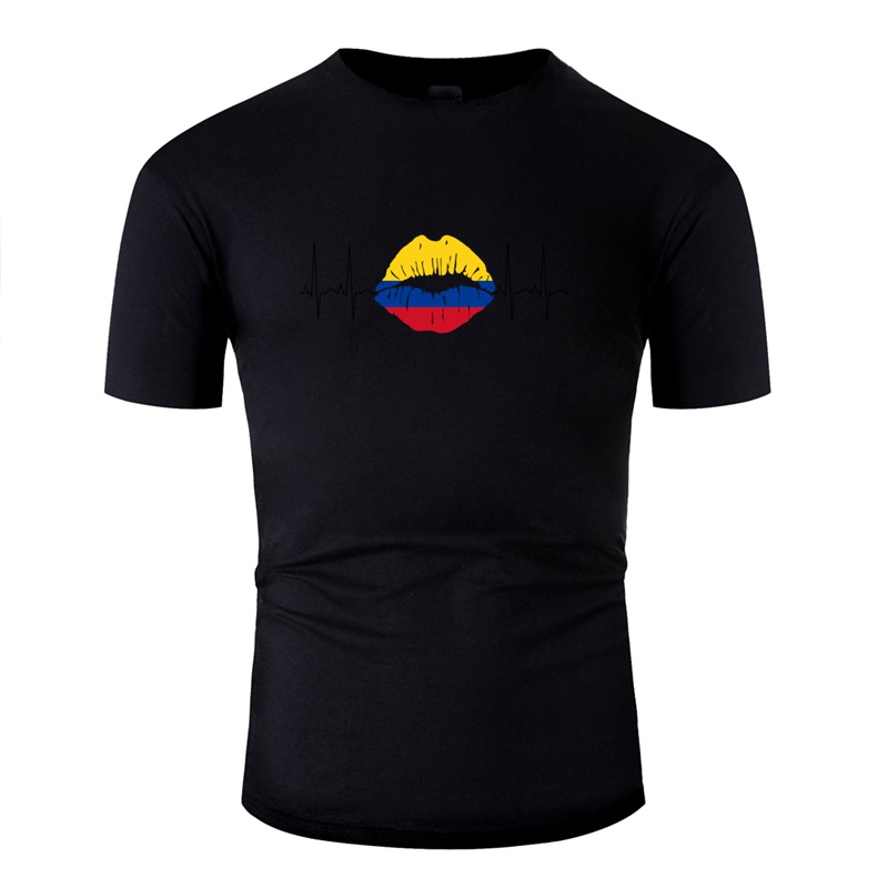 >Casual Colombia 2018 Ecg Kiss Soccer <font><b>World</b></font> <font><b>Champions</b></font> <font><b>Gift</b></font> Tshirt Men Kawaii Adult Tee Shirt Awesome Male