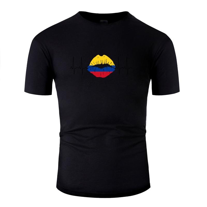 >Casual Colombia 2018 <font><b>Ecg</b></font> <font><b>Kiss</b></font> <font><b>Soccer</b></font> World Champions Gift Tshirt Men Kawaii Adult Tee Shirt Awesome Male