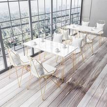 Чайный магазин стол и стул комбинация свежий и простой кафе закуска десертный магазин западный ресторан креативный стул для отдыха