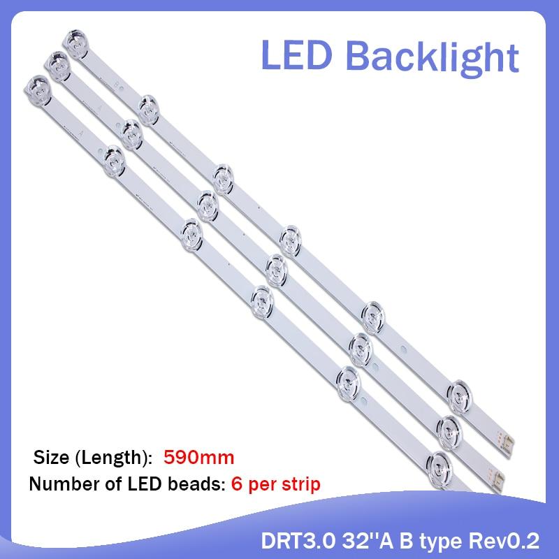 New 3 PCS*6LED 590mm LED Backlight Strip Bar Compatible For LG 32LB561V UOT A B 32 INCH DRT 3.0 32 A B 6916l-2223A 6916l-2224A