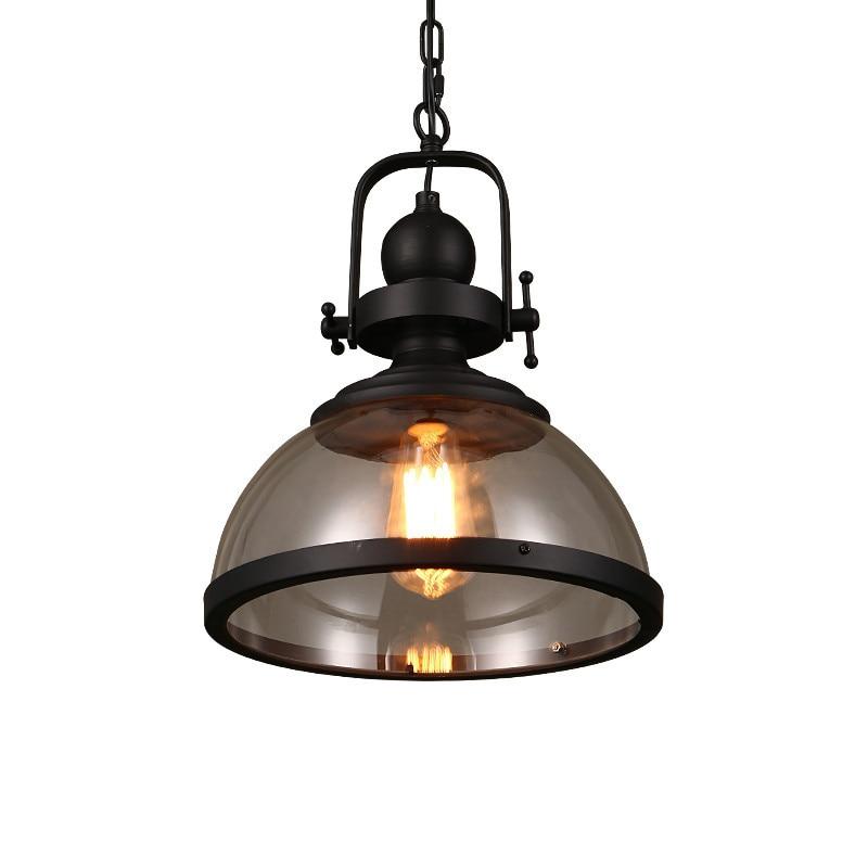 American Loft Retro Industrial Kitchen Dining & Bar Pendant Lights Glass for Living Room Restaurant Home Lighting Fixtures Deco|Pendant Lights| |  - title=