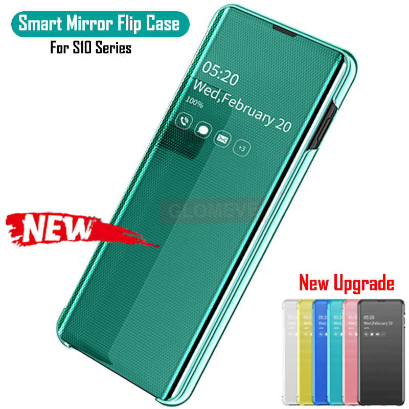 Smart Spiegel Flip Case Voor Samsung Galaxy Note 10 S10 S8 S9 Plus S7 Rand Note 8 9 A10 A20e a40 A50 A30 A70 A750 Originele Cover