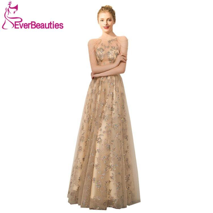 Tulle Appliques Prom Dresses Long 2020 Vestidos De Gala A-Line Vestidos De Fiesta Largos Elegantes De Gala
