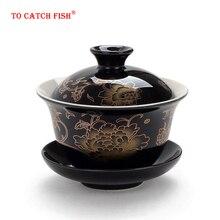 Китайский Традиционный Чайный сервиз gai wan чайный сервиз из костяного фарфора Dehua gaiwan чайный фарфоровый сервиз для путешествий красивый и легкий чайник