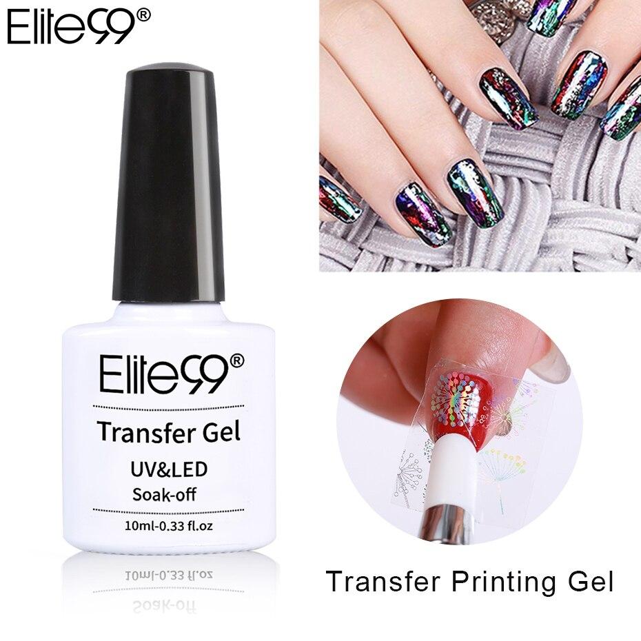 10 мл Гель-лак для нейл-арта Elite99, клейкий клей для нейл-арта, стикер звездного неба, смывающийся клей, гелевая краска для маникюра