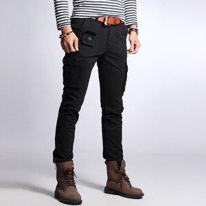 Image 3 - גברים של כותנה הסוואה מכנסיים מטען גדול גודל גמיש טקטי צבאי מכנסיים חאקי מכנסיים גבר מכנסיים Streetwear רצים