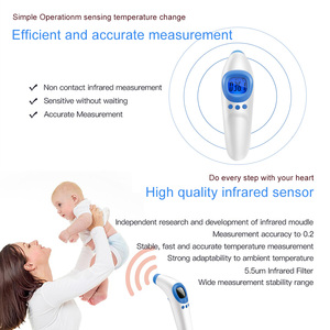 Image 3 - Medical Infrared Thermometer Forehead Temperature Gun Non contact Baby Adult Temperature Instrument Handheld Digital Thermometer