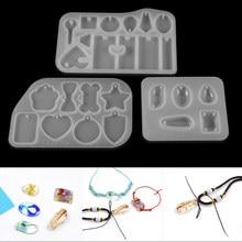 Mélange de boucles d'oreilles en forme de pendentif, moule en Silicone époxy fait à la main, moules en résine époxy, bijoux, outils de fabrication, 1 pièce