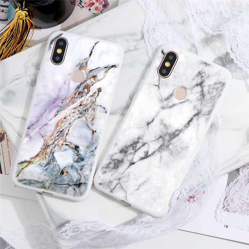 Marble Case For Xiaomi For Redmi Note 8 7 5 6 9 Pro 8T 7A 6A Mi A3 A1 A2 6X 9T 8 9 Lite SE F1 CC9 CC9e Note 10 TPU Cover Fundas(China)