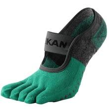Женские носки для йоги MKYG1902 MEIKANG, махровые нескользящие носки с нескользящей подошвой и 5 пальцами, высококачественные фирменные женские носки для балета и йоги