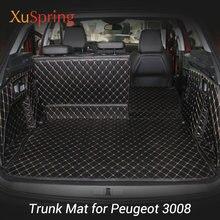 Для 2016 2017 2018 2019 2020 Peugeot 3008 задний коврик для багажника автомобиля прочные ковры для багажника подкладка для груза защитный чехол для стайлин...