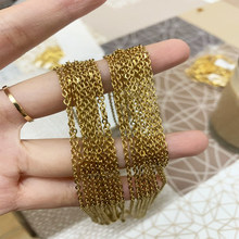 Wholesale DIY Jewelry Making Stainless Steel Gold/Silver Color 1mm Rolo Cuban Link Chains Necklaces For Pendants 10pcs/lots Bulk