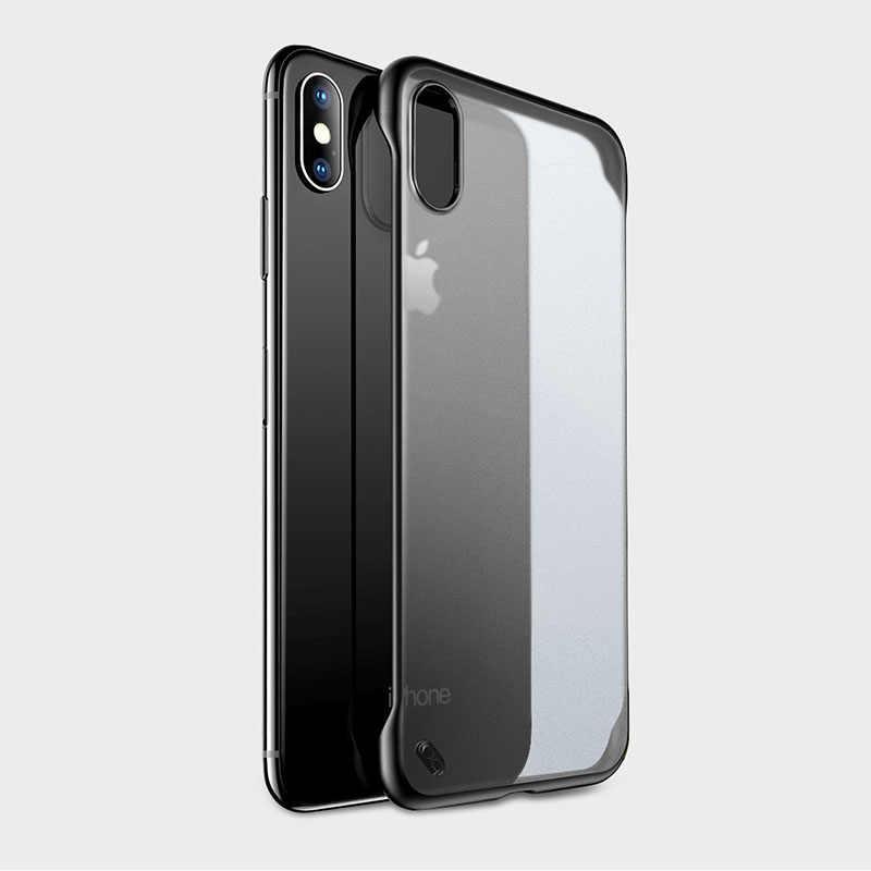 透明電話ケースのための iphone 11 プロマックス携帯 accessorie センチメートルボーダレス小箱のため iphone xr × xsmax 7 8 6 プラス超薄型カバー