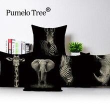 Pillows Cover Cushion Case Kissen Corgi Dekoration Hause Pferd Background Terrier Retro
