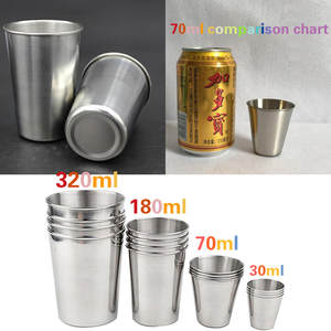 Mugs Cups Glasses Shot Whiskey Drinking-Glass White Tea Beer Stainless-Steel Outdoor
