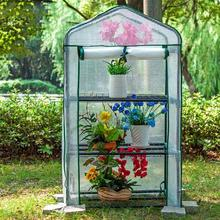 Home Greenhouse With Iron Frame Sunshine Flower Balcony Thermal Insulation Flower Plant Cover Green Plant Frozen Shed Greenhouse