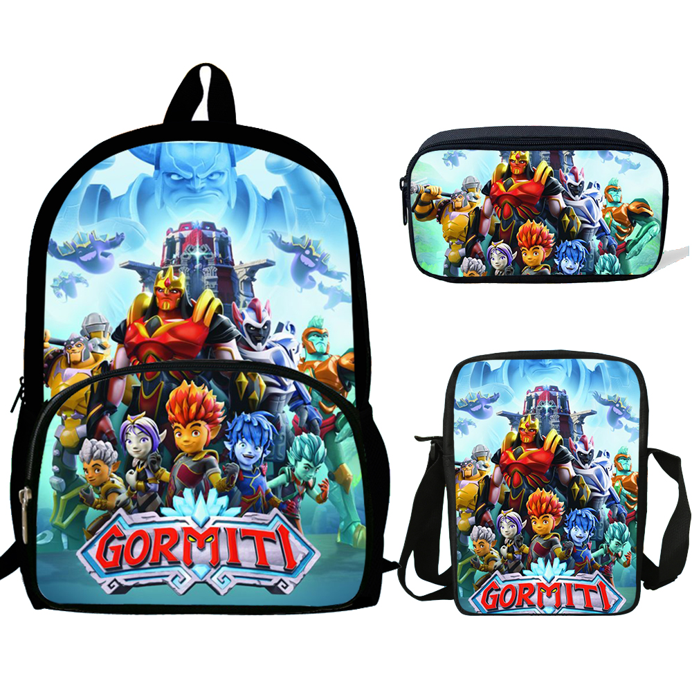 Kid School Bags Boys Game Gormiti Schoolbags Primary Student Large Capacity Backpack Sets Girls Boys Satchel