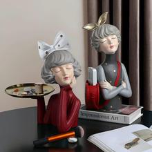 Статуэтка moden Великолепная Девочка из смолы подарок креативный