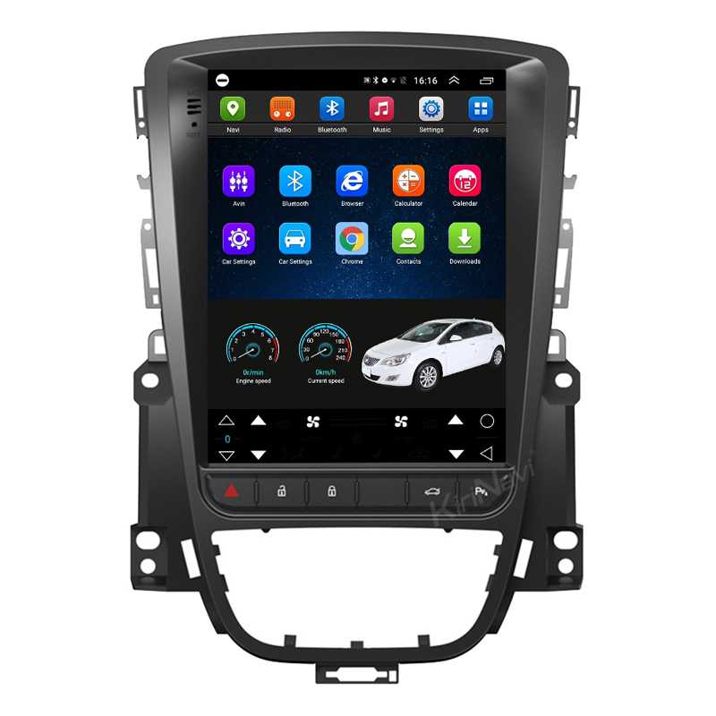 KiriNavi Vertical Screen Tesla Style 10.4'' Android 9.0 For Opel ASTRA J Buick Car Radio  Car Multimedia Dvd Navigatio 2009-2015