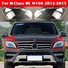 ML300 ML350 ML400 ML450 ML500 Case For Mercedes Benz M Class ML W166 2012 2015 Car Glass Headlight Cover Auto Lens Caps Shell