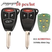 Jingyuqin 10X 315MHz KOBDT04A REMOTE Key FOB สำหรับ Dodge Dakota Durango Charger Fit Jeep Grand Cherokee Chrysler 300 3/4B