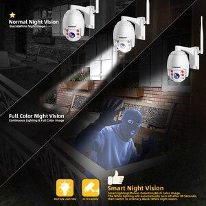 Image 4 - Super Mini 2,5 Inch PTZ Speed Dome WIFI IP Kamera 1080P Outdoor 5X Zoom / 4mm Feste Linse drahtlose Kamera IR 60m Zwei wege Audio