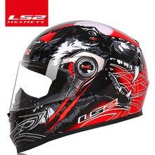 LS2 Clown Volledige Gezicht Moto Rcycle Helm Ls2 FF358 Moto Cross Racing Man Vrouw Casco Moto Casque Ece Goedgekeurd
