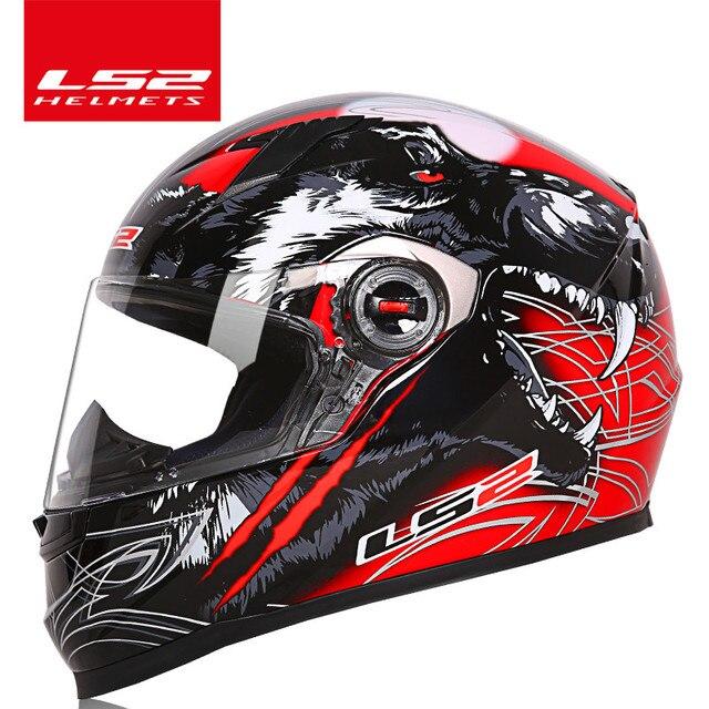 LS2 Pagliaccio del fronte pieno moto rcycle casco ls2 FF358 moto cross da corsa uomo donna casco moto casco ECE Approvato